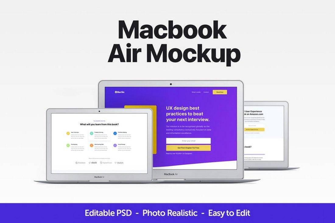 Macbook Air Mockup