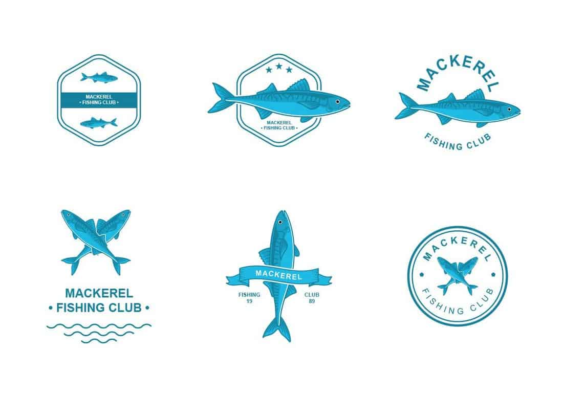 Mackerel-Logo-Design-Templates 20+ Best Free Logo Templates design tips