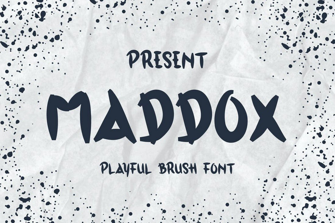 Maddox - Decorative Brush Font