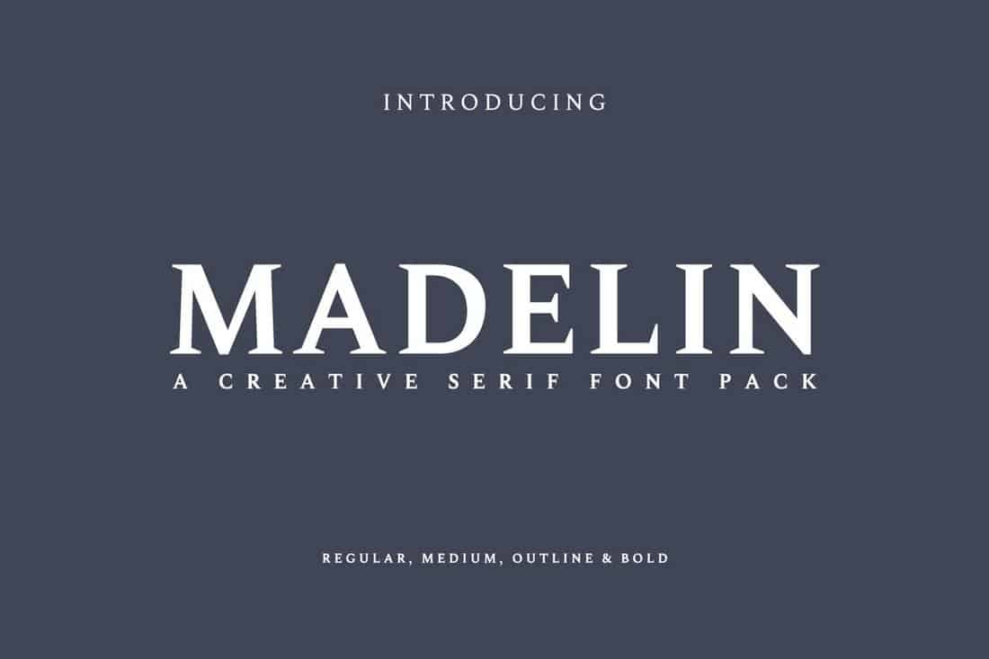 Madelin - Bold Serif Font Family