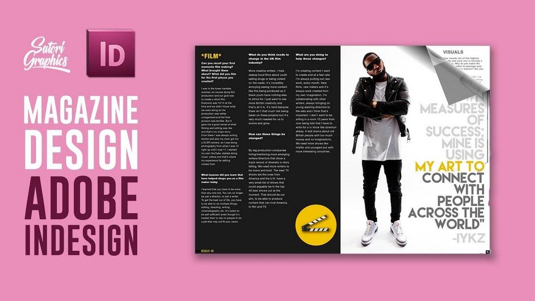 Magazine Layout in Adobe InDesign
