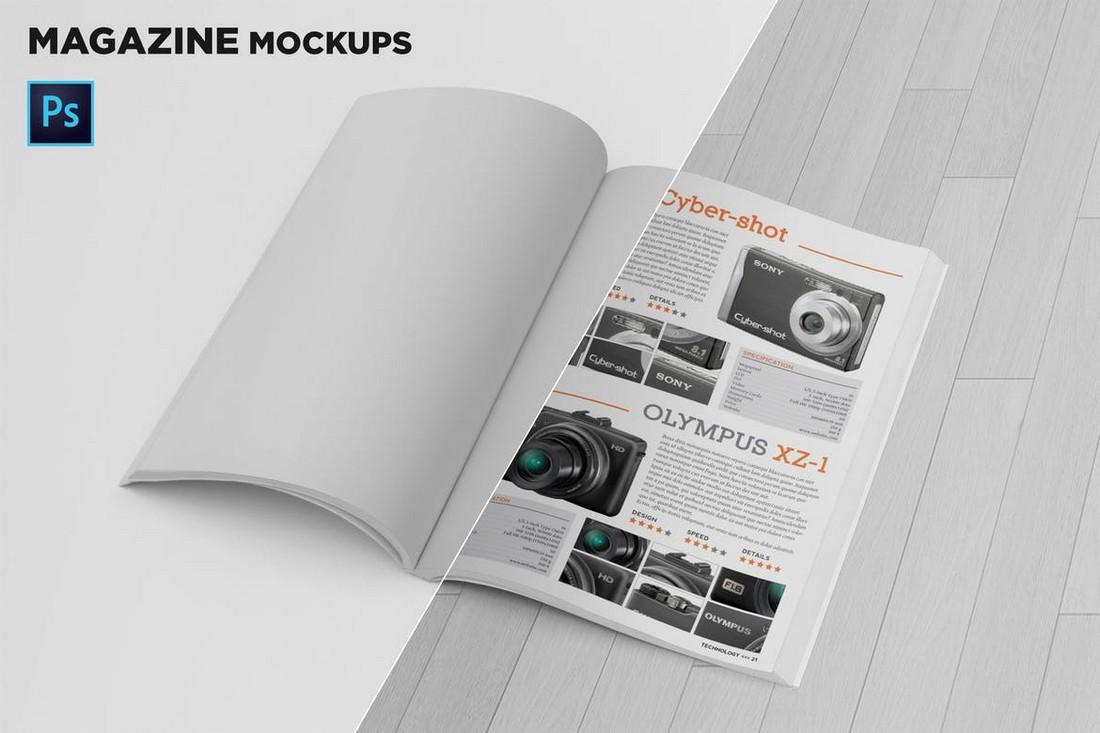 Magazine Mockup backgrounds