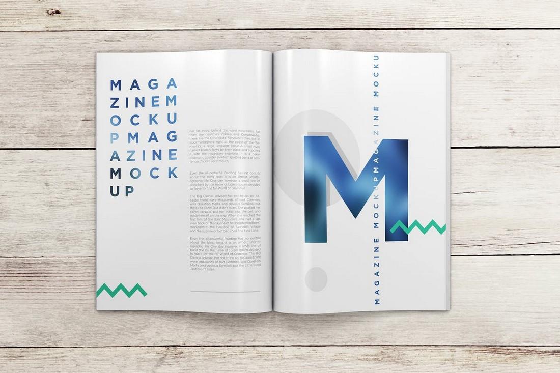 Magazine Srpead Mockup Template