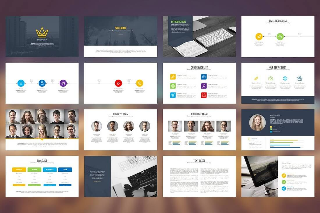 60 beautiful premium powerpoint presentation templates design mahkota powerpoint template toneelgroepblik Choice Image