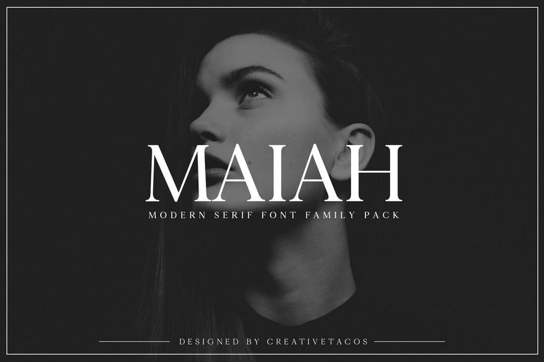 Maiah - Serif Font Family Pack
