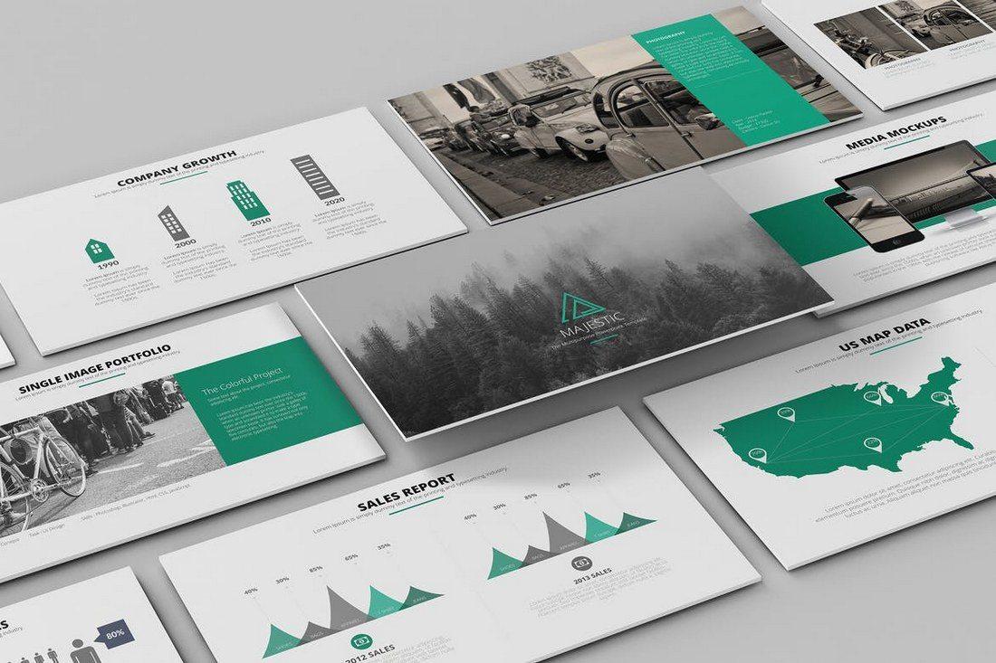 Majestic-Keynote-Template 30+ Best Minimal & Creative Keynote Templates design tips
