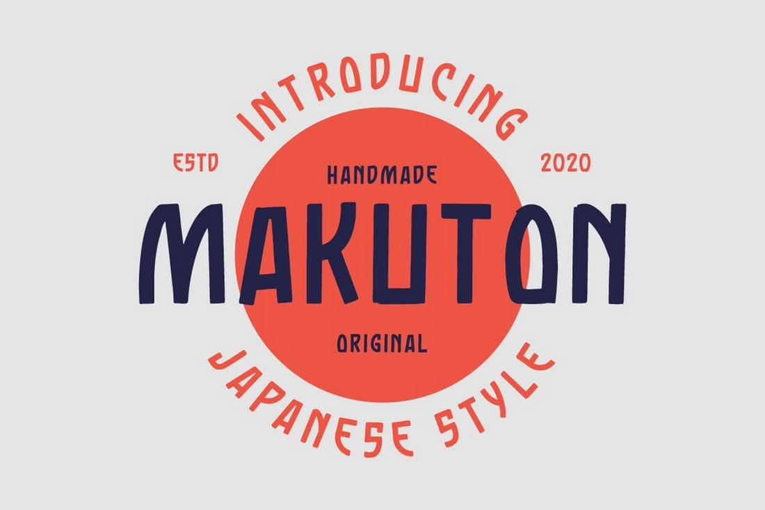 Makuton-Japanese-Style-Vintage-Font 30+ Best Fonts for Signs design tips  Inspiration