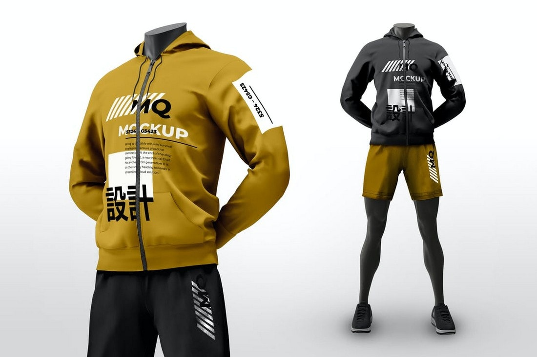 Male-Mannequin-Sports-Hoodie-Mockup 20+ Hoodie Mockup Templates (Free & Premium) design tips  Inspiration