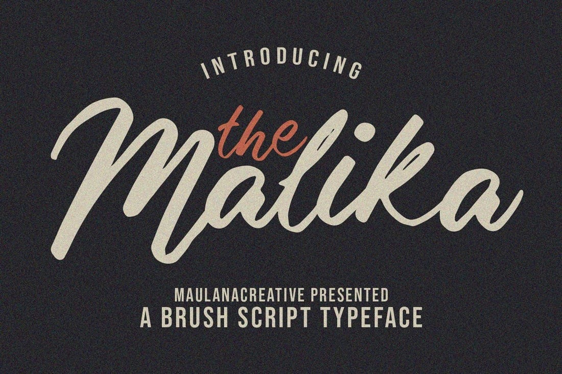 Malika - Handwriting Brush Script Typeface