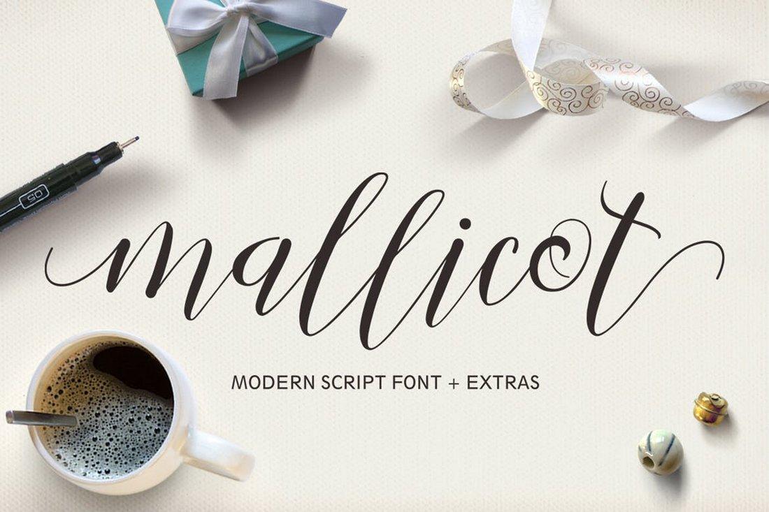Mallicot - Cursive Script Font