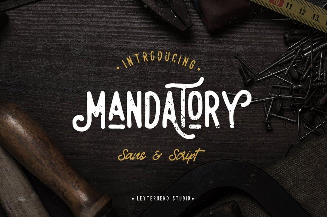 Mandatory - Vintage Font Duo