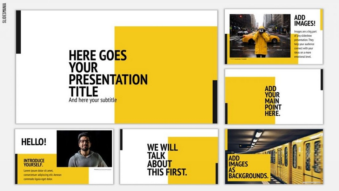 Manhattan - Free Template for Google Slides
