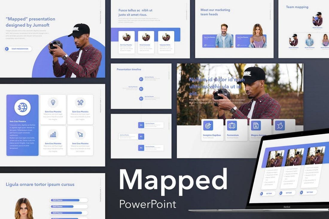 Mapped-PowerPoint-Template 20+ Modern Professional PowerPoint Templates design tips