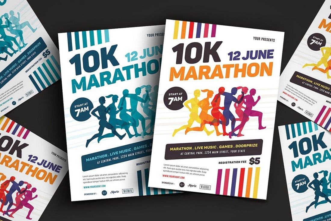 Marathon-Event-Flyer 20+ Best Event Flyer Templates design tips