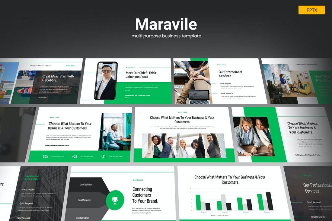 Maravile-Multipurpose-Business-Powerpoint 20+ Best Webinar PowerPoint Templates (Remote Presentation PPT Slides) design tips