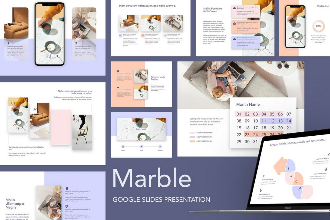 Marble - Creative Google Slides Template