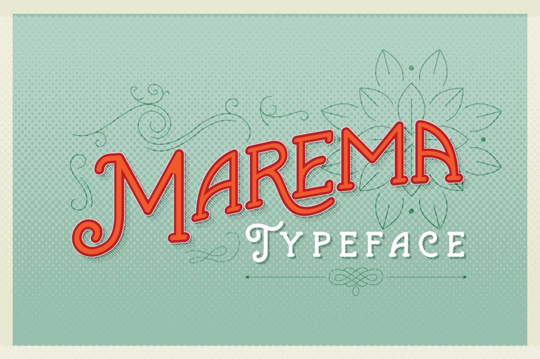 Marema-Gothica-Typeface 20+ Best Gothic Fonts design tips
