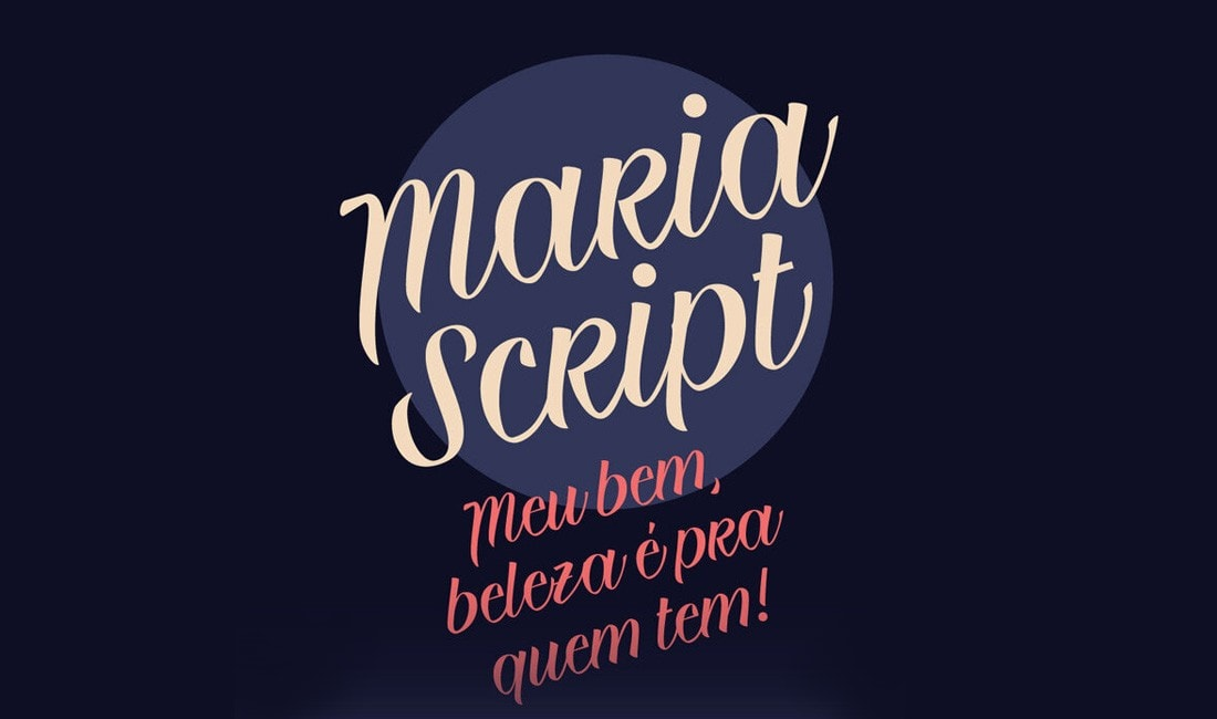 Maria Script - Free Handwritten Script Font 2
