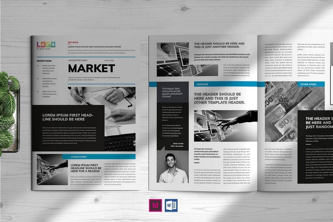 Market-InDesign-Newsletter-Template 20+ Best InDesign Newsletter Templates (Free & Premium) design tips  Inspiration