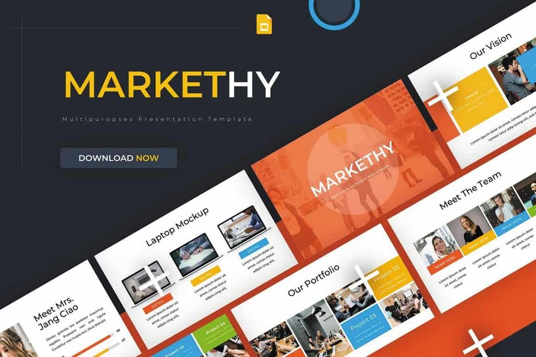 Markethy - Marketing Google Slides Template