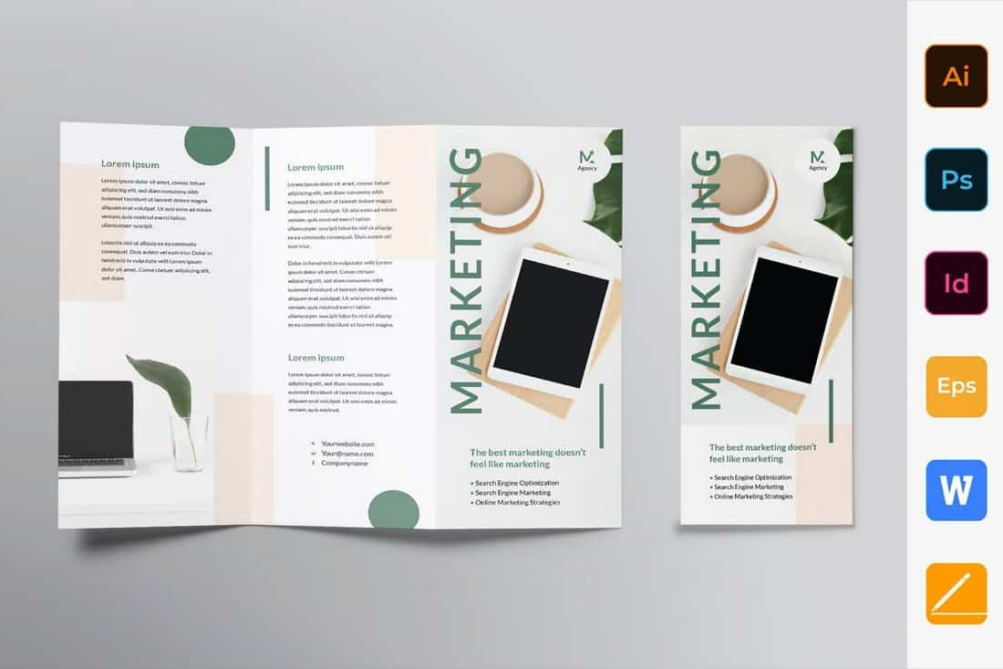 Marketing Agency Trifold Brochure
