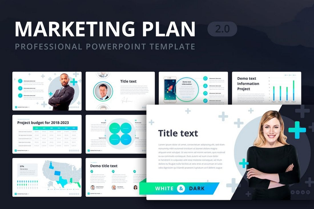 Marketing-Plan-2.0-Powerpoint-Template 20+ Modern Professional PowerPoint Templates design tips