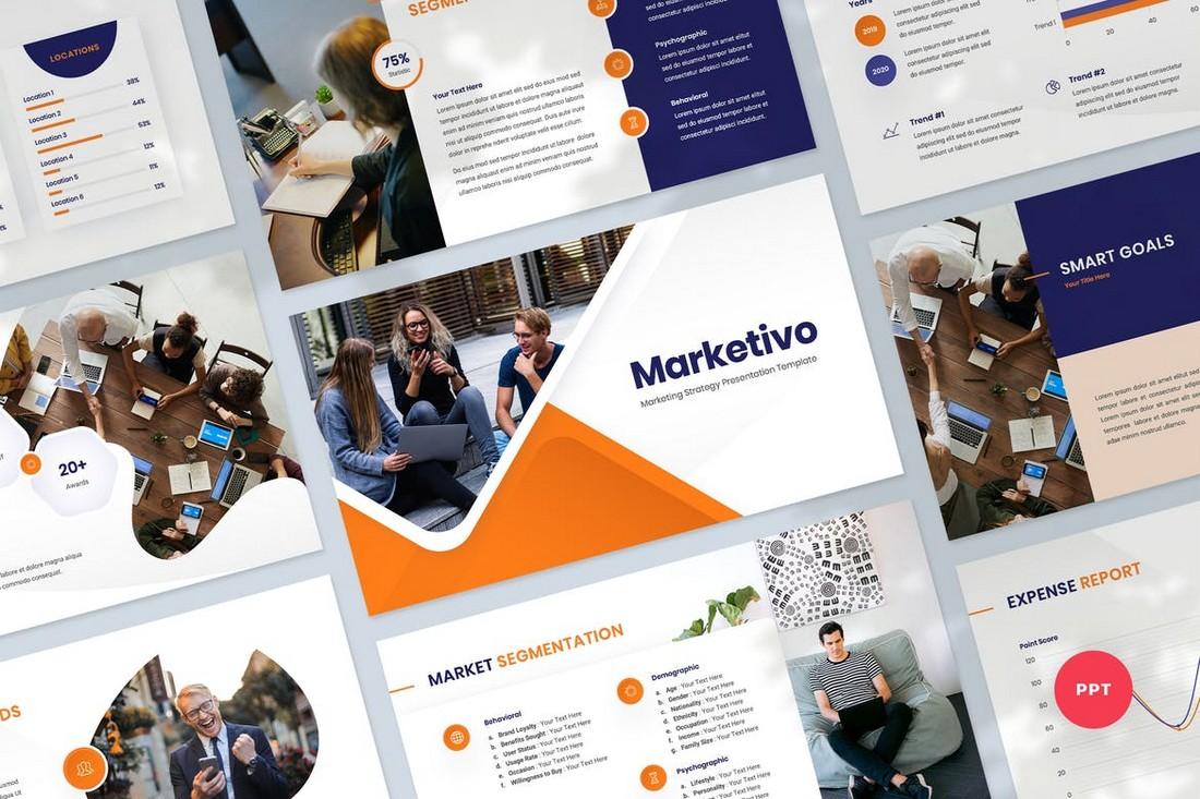 Marketing Strategy Presentation PowerPoint Template