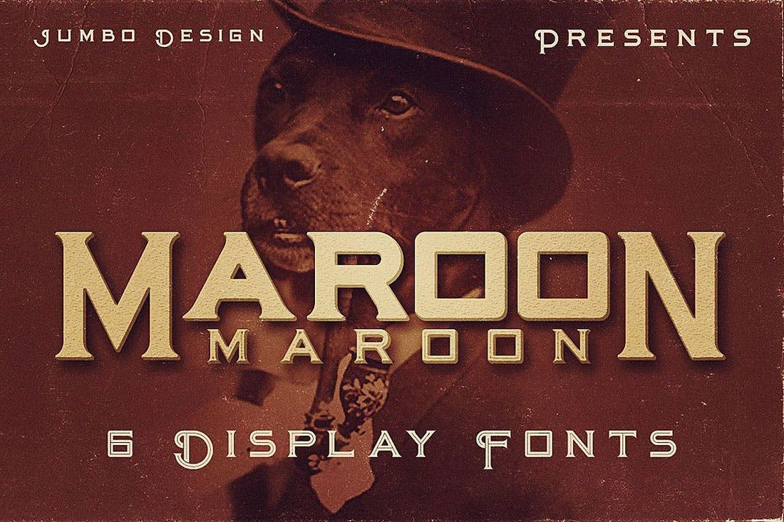 Maroon-Vintage-Style-Font 30+ Best Fonts for Logo Design design tips