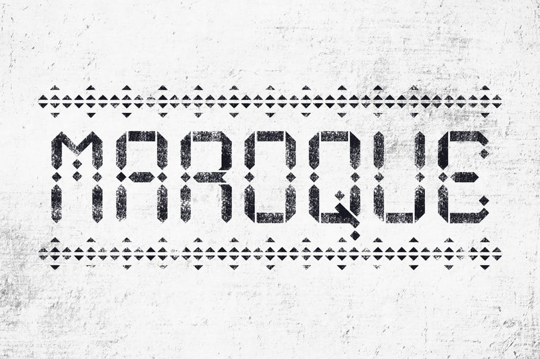 Maroque-Stencil-Font 30+ Best Stencil Fonts design tips
