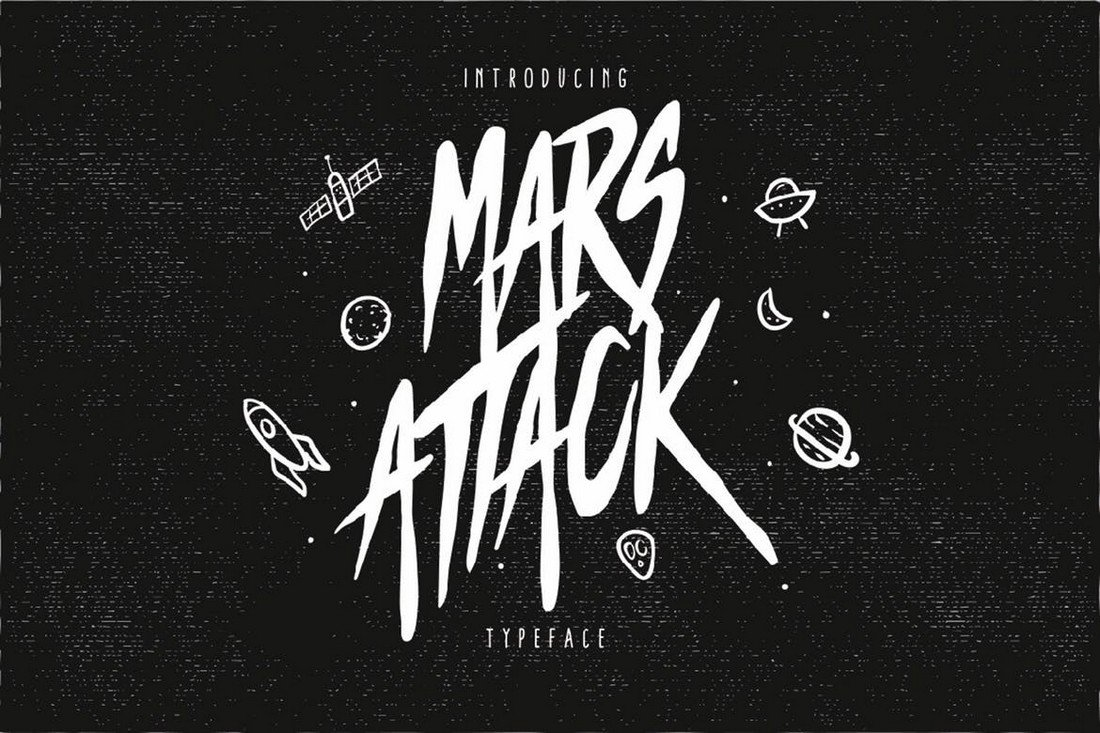 Mars-Attack-Decorative-Title-Font 25+ Best Decorative Fonts in 2021 (Free & Premium) design tips