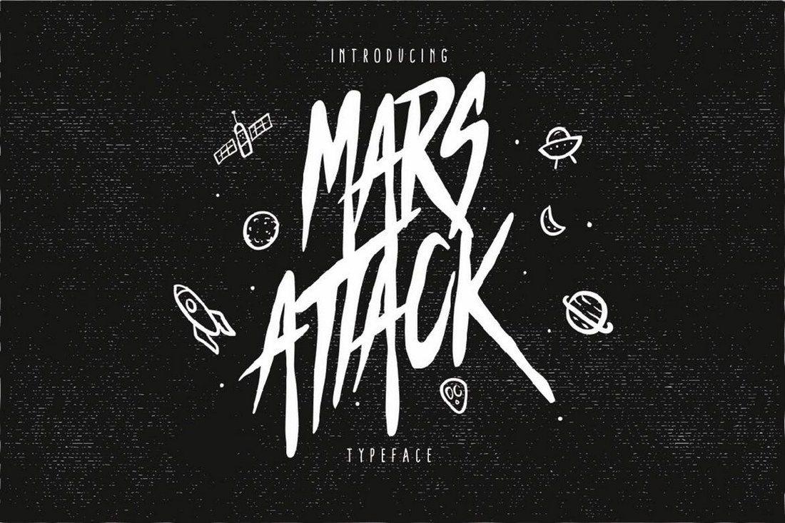 Mars-Attack 25+ Best Monogram Fonts design tips