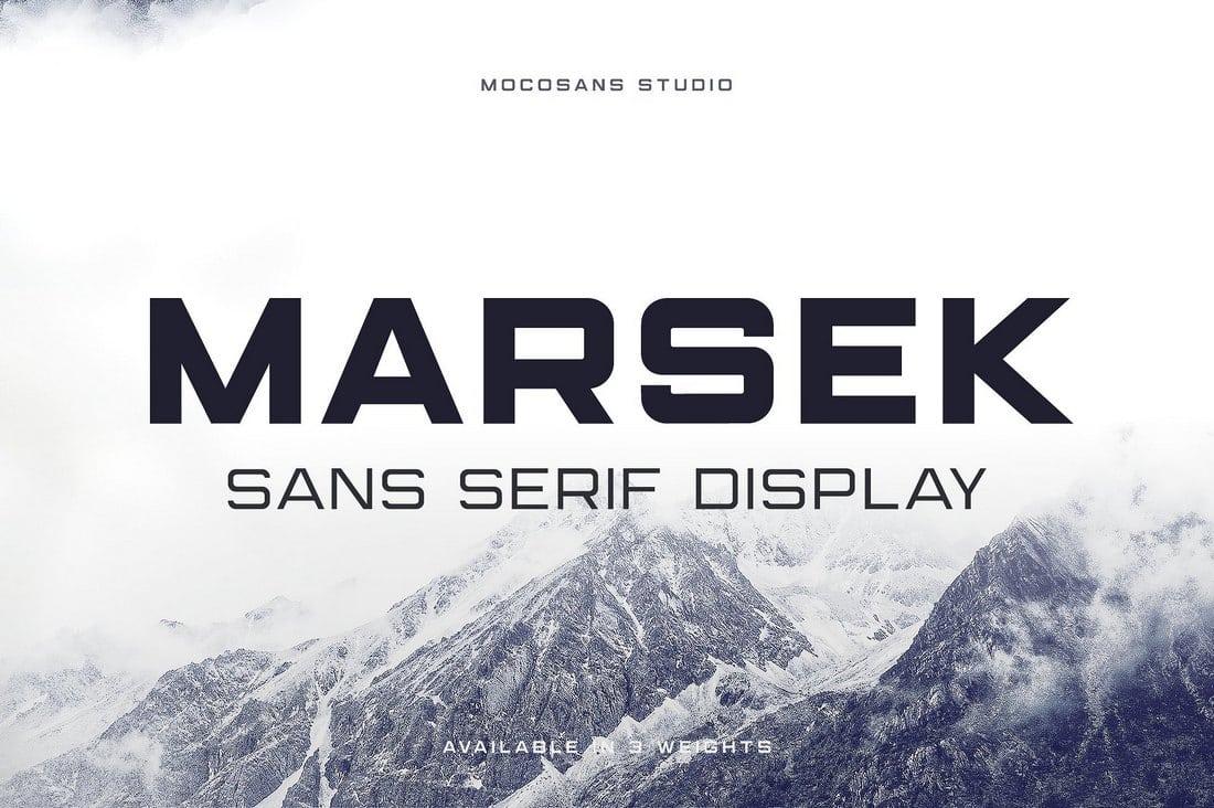 Marsek-Display-Sans-Serif 50+ Best Free Fonts for Designers 2018 (Serif, Script & Sans Serif) design tips