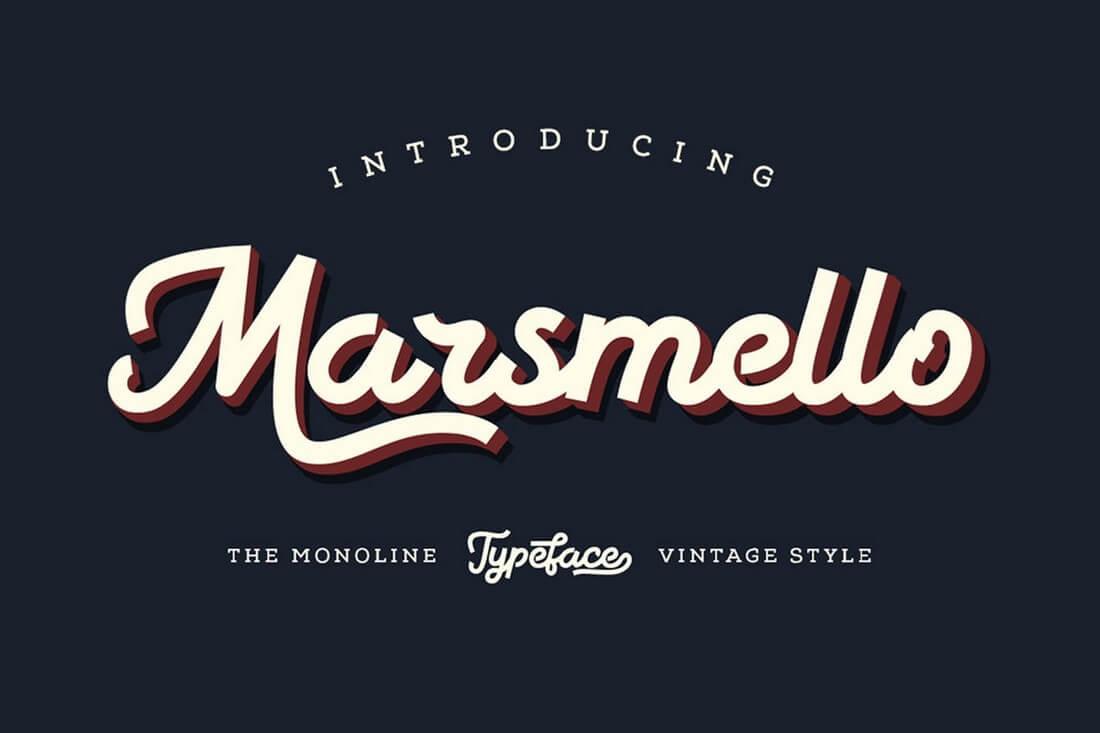 Marsmello 60+ Best Big, Poster Fonts of 2019 design tips