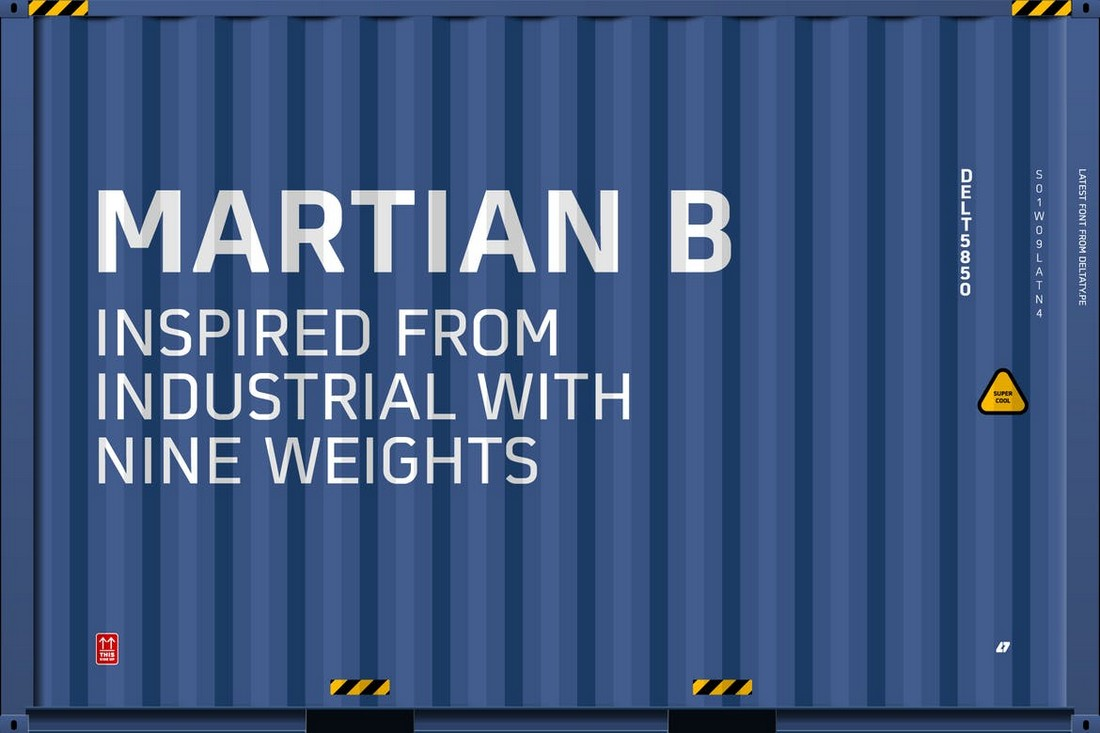 Martian B - Industrial Title Font Family