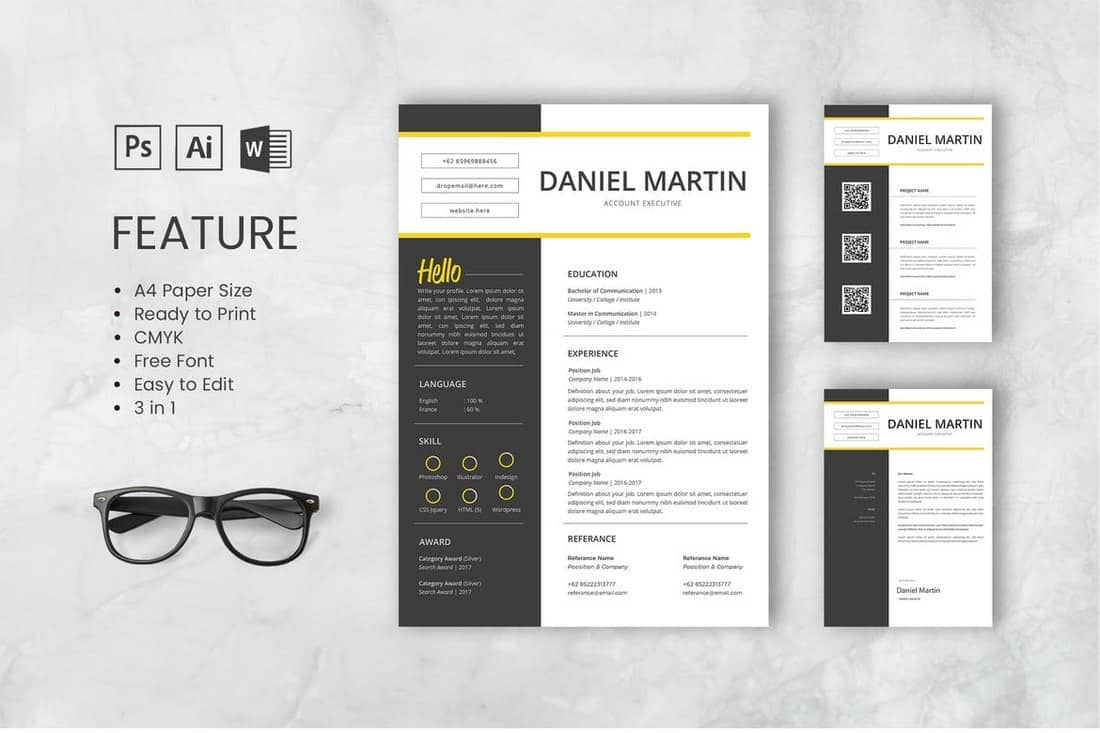 Martin-Professional-CV-And-Resume-Template 50+ Best CV & Resume Templates 2020 design tips