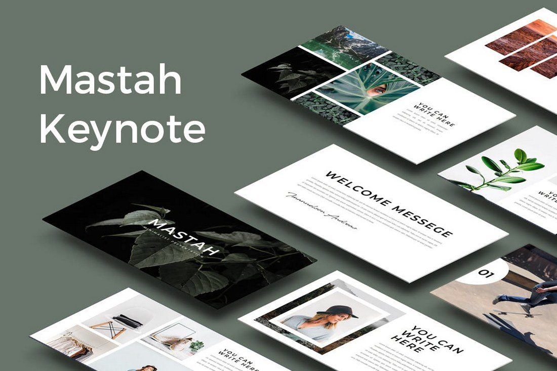mastah keynote template includes 50 unique slides featuring gallery slides master slides portfolios and more its best for creating slideshows for