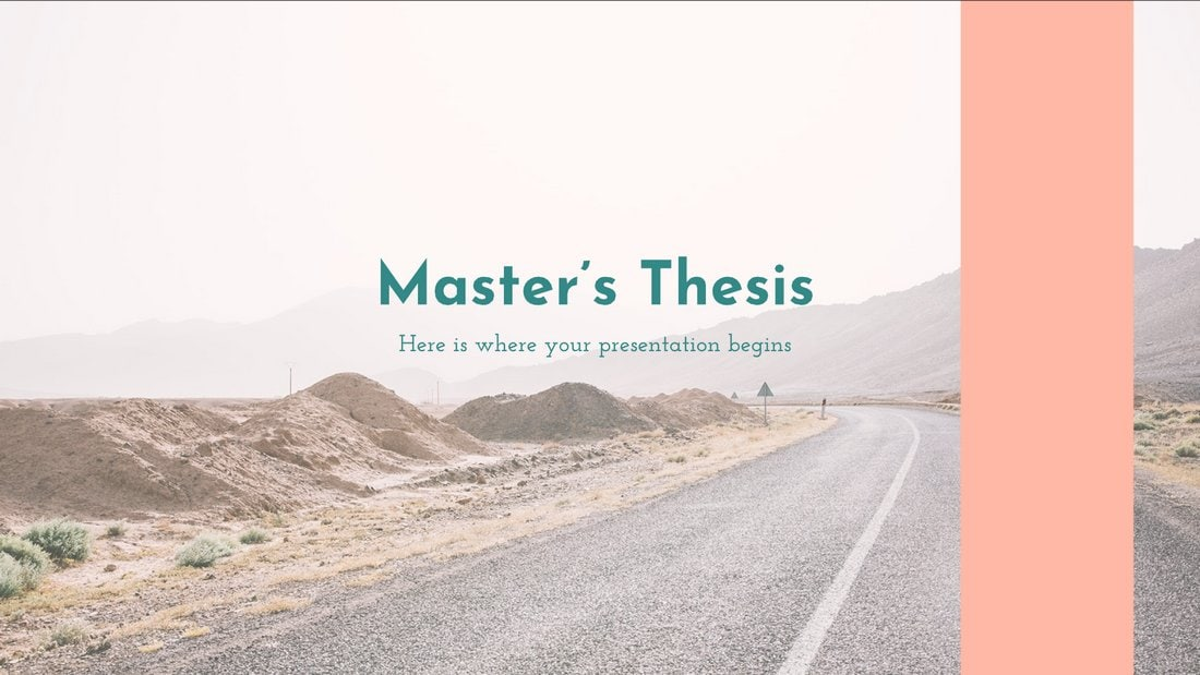 Master's Thesis - Free Education PowerPoint Template