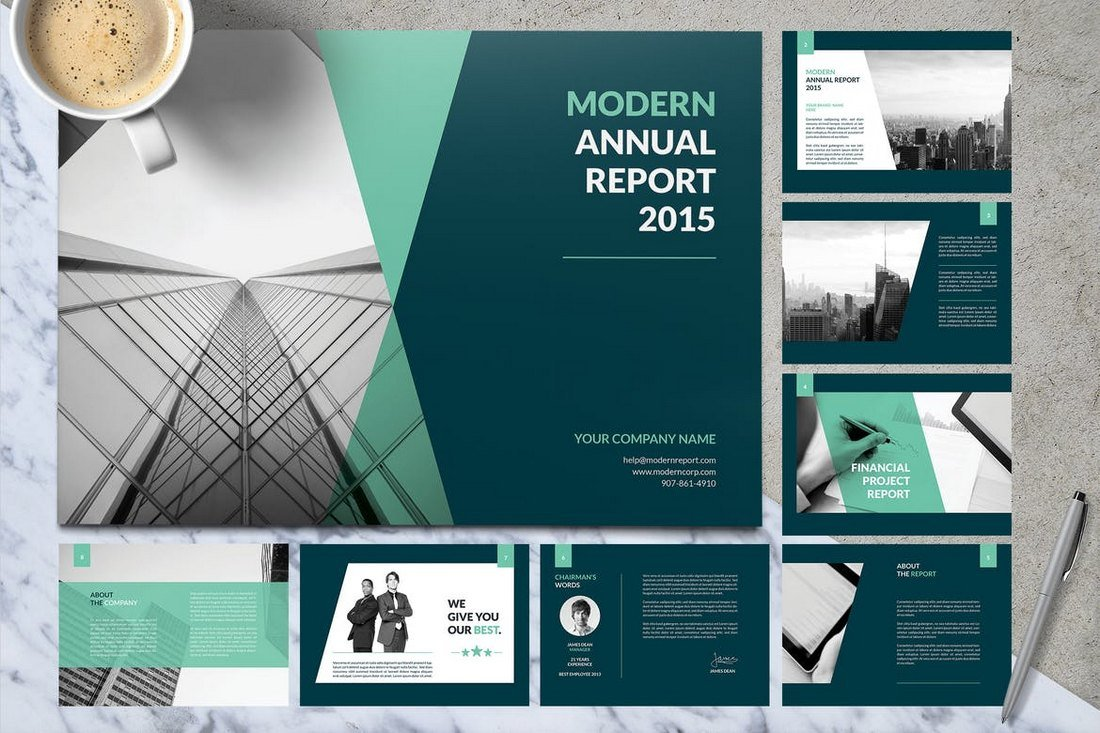 Material Annual Report Template
