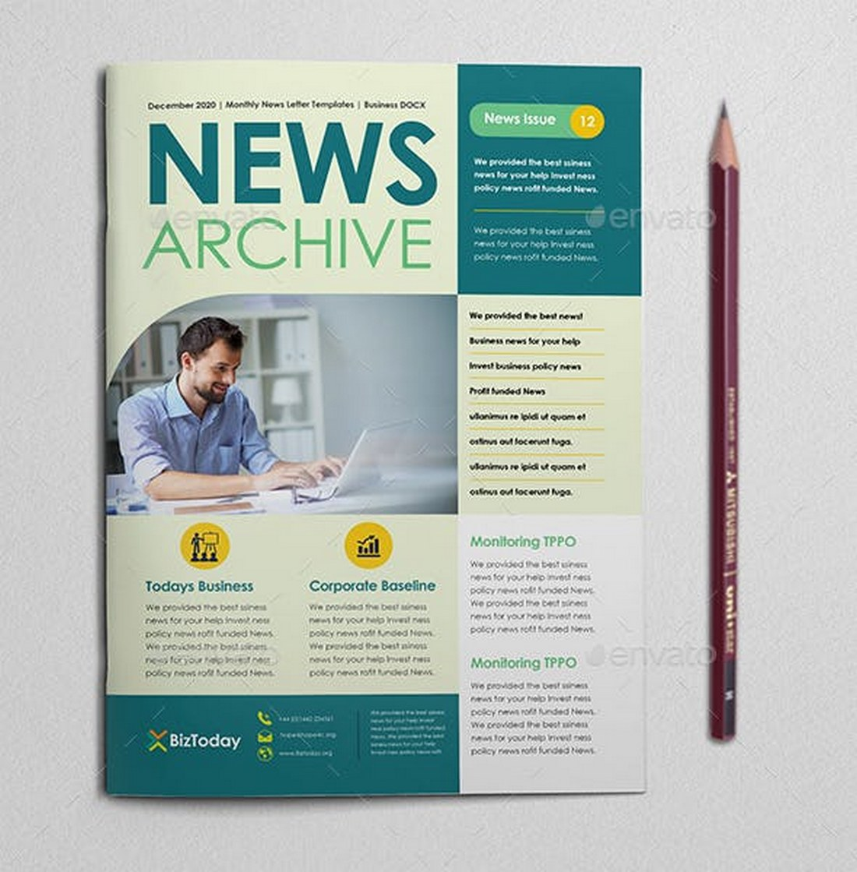 Material-School-Newsletter-Template 20+ School Newsletter Templates design tips