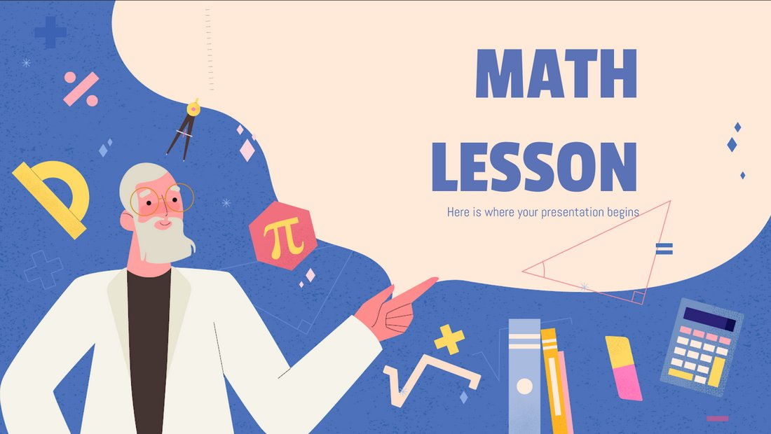 Math Lesson - Free PowerPoint Presentation Template