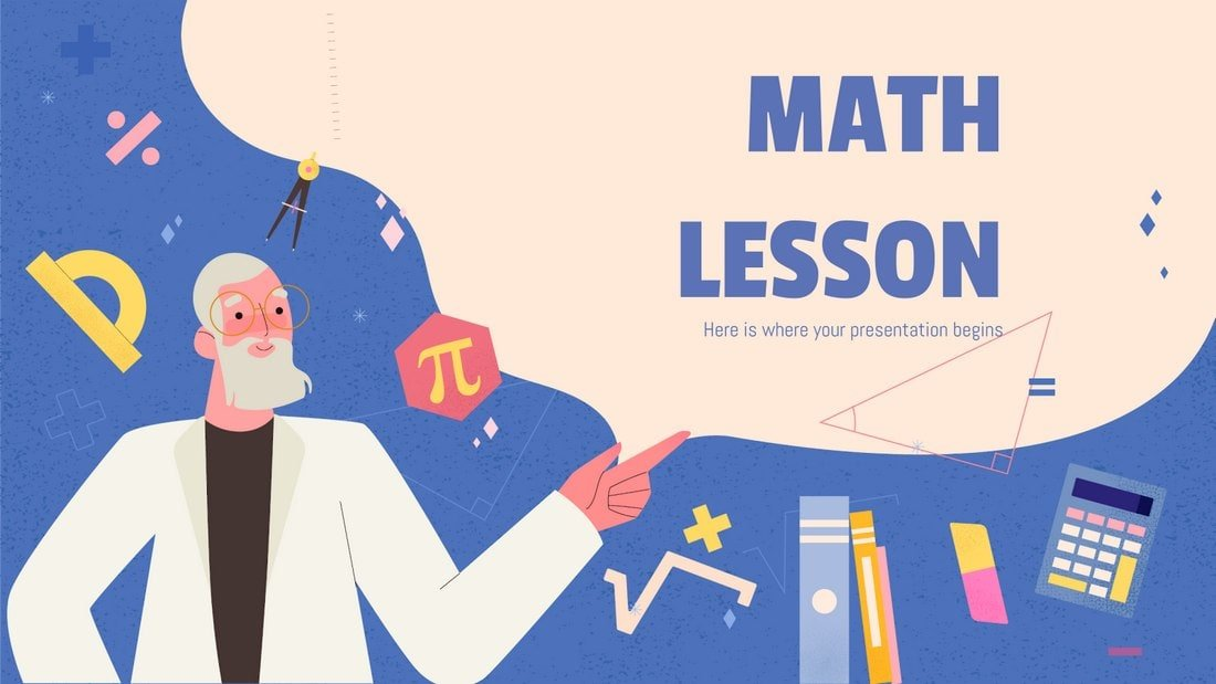 Math Lesson - Free Powerpoint Template