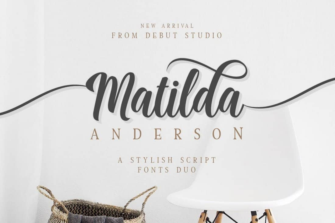 Matilda Anderson - Handwriting Font Duo