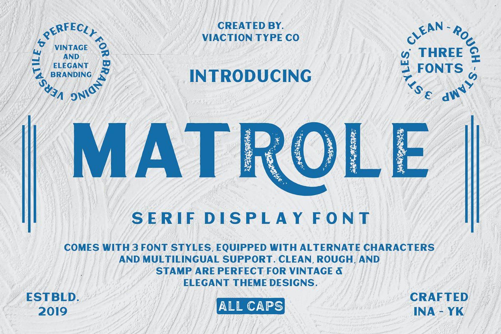 Matrole - Vintage Font