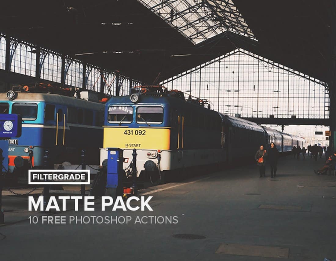 Matte Photoshop Actions Pack