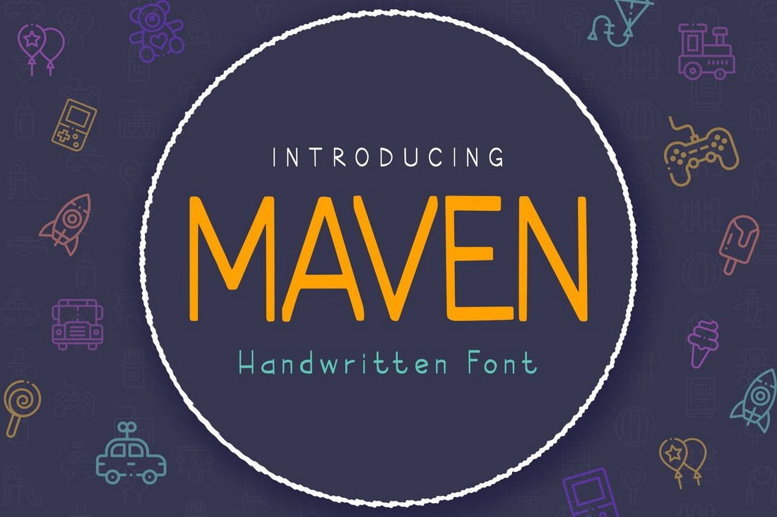Maven - Handwritten Headings Font