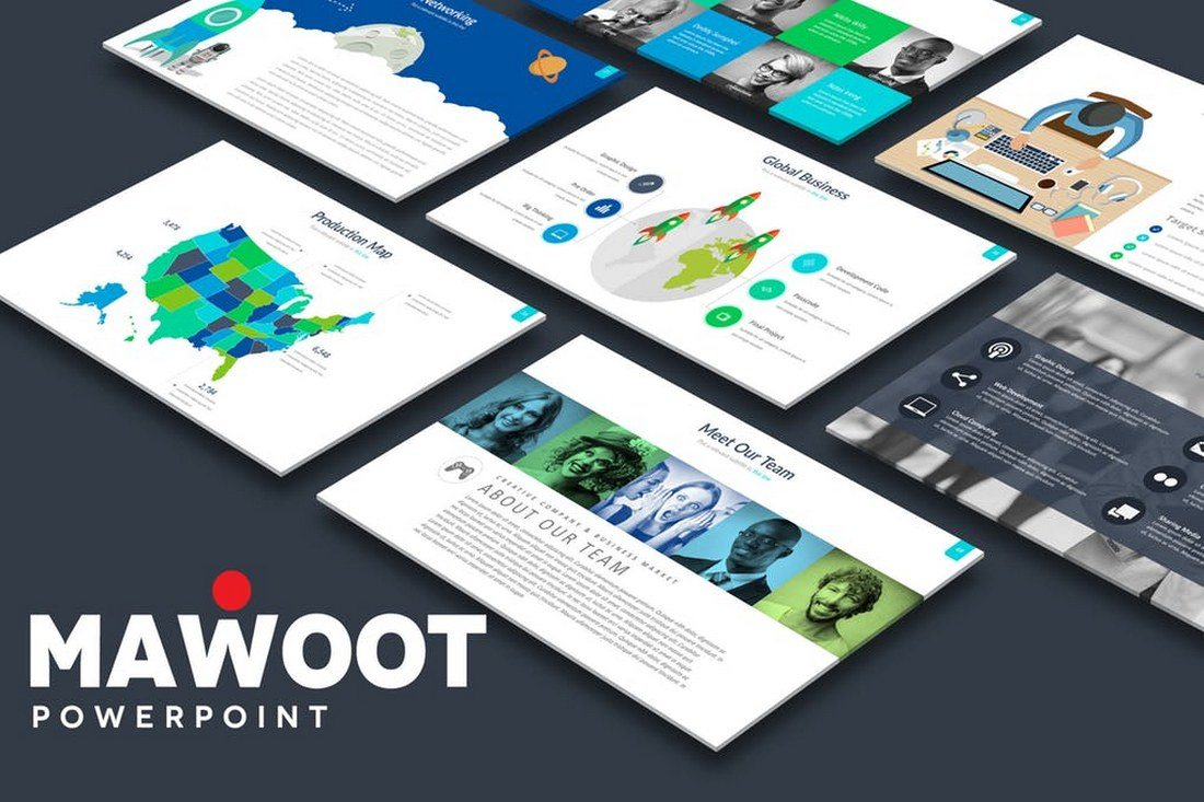 60 beautiful premium powerpoint presentation templates design shack mawoot powerpoint template price envato elements subscription toneelgroepblik Gallery