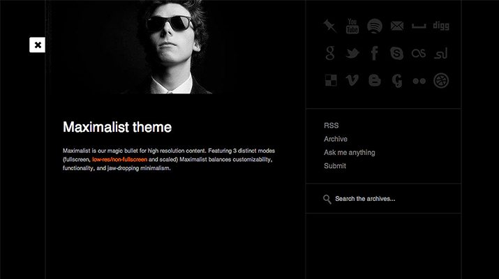 50 free premium tumblr themes design shack Black and white themes for tumblr