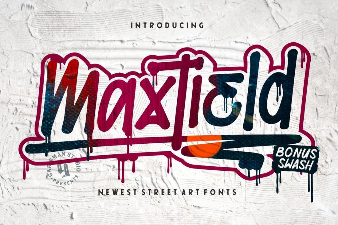 Maxtield - Graffiti Poster Font