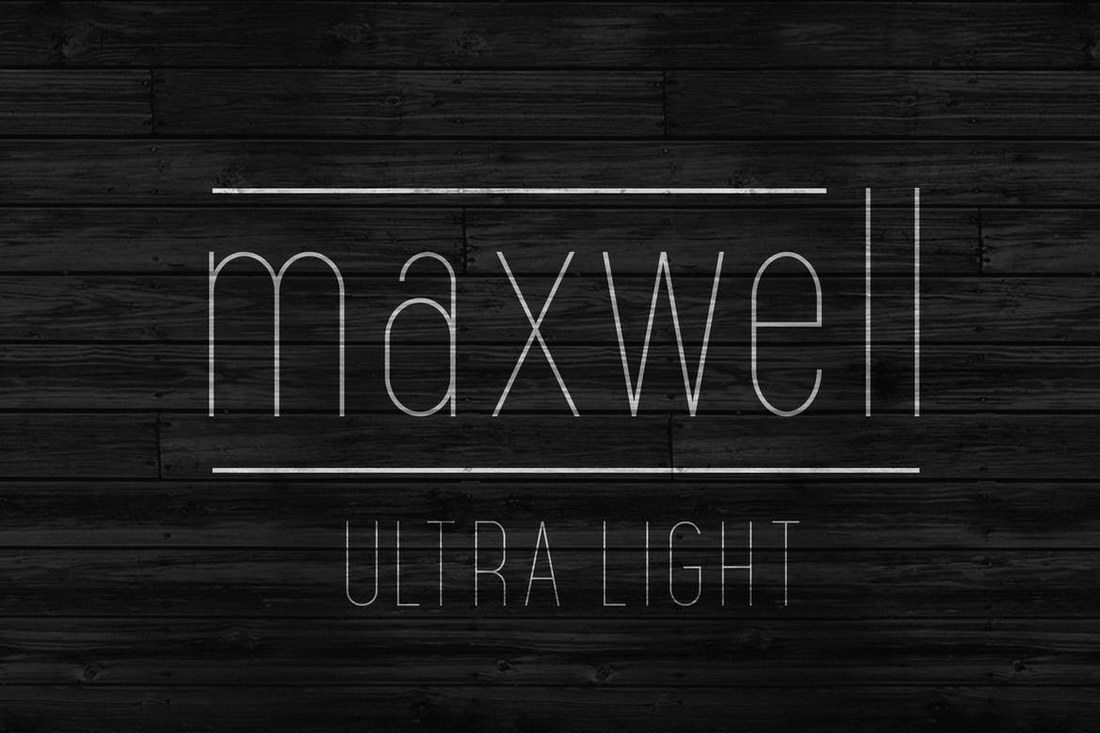 Maxwell Is A Minimalist Narrow Font That Features Mixed Modern Retro Design Inspired By The Text And Sign Designs From 1950s