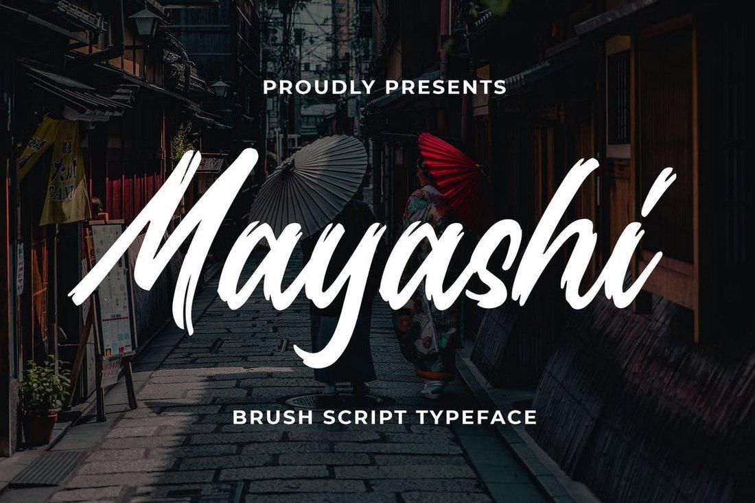 Mayashi - Brush Script font